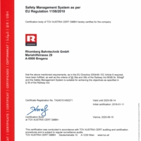 Safety Management System Rhomberg Bahntechnik GmbH