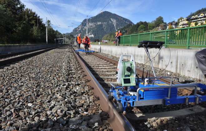 Rail track survey for tamping